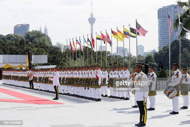 Malaysian Royal Guard stands still for the new King of Malaysia the sixth Sultan of Pahang AlSultan Abdullah Ri'ayatuddin AlMustafa Billah Shah Ibni...