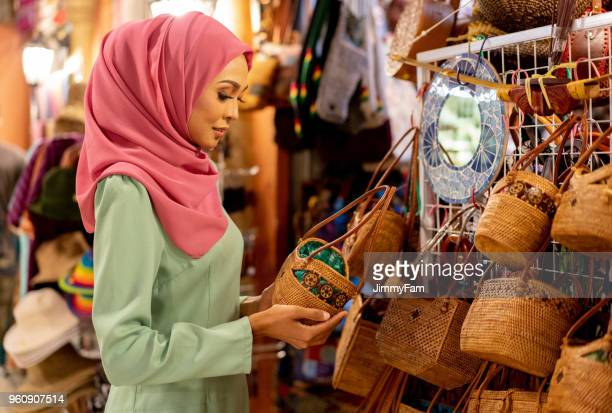 Malaysian Woman shopping for Ramadan