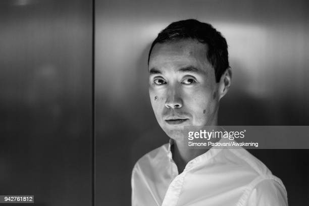 Malaysian writer Tash Aw attends a photocall during Incroci di Civiltà International Literature Festival at Fondaco dei Tedeschi on April 6 2018 in...