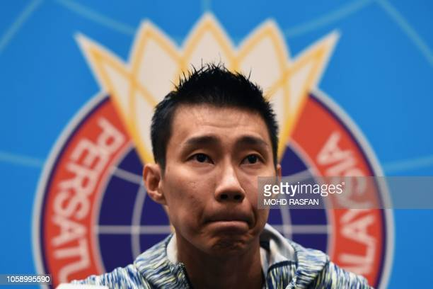 Malaysia's badminton player Lee Chong Wei attends a press conference in Kuala Lumpur on November 8, 2018.