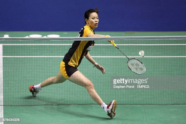 Malaysia's Choo Mew Wong in action against China's Yanjiao Jiang