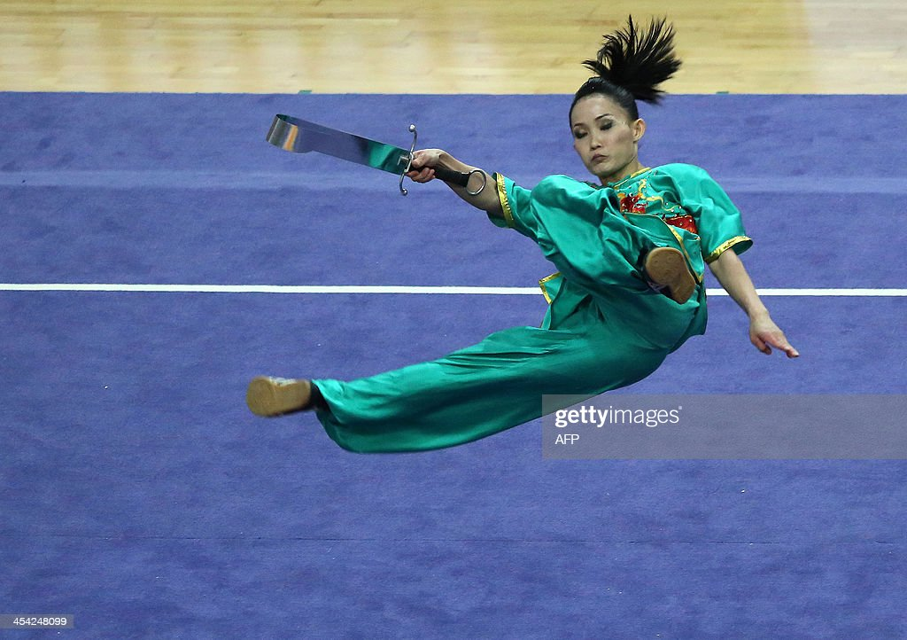 Malaysia's Diana Bong Siong Lin performs during the women's nandao competition during the 27th SEA Games in Nay Pyi Daw on December 8, 2013.