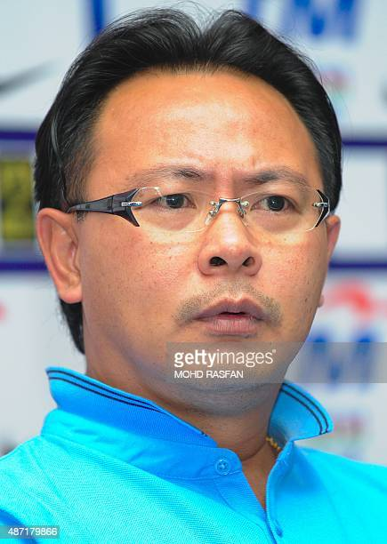 Malaysia's football interim coach Ong Kim Swee answers questions during a press conference at the Football Association of Malaysia headquaters in...