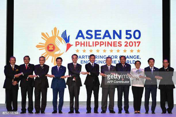 Malaysia's Foreign Minister Anifah Aman Myanmar's Minister of State of Foreign Affairs U Kyaw Tin Thailand's Foreign Minister Don Pramudwinai...