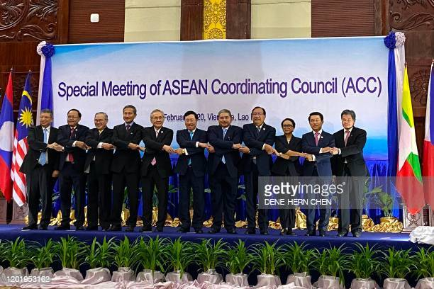 Malaysia's Foreign Minister Saifuddin Abdullah, Myanmar's Union Minister for International Cooperation Kyaw Tin, Philippines' Foreign Minister...