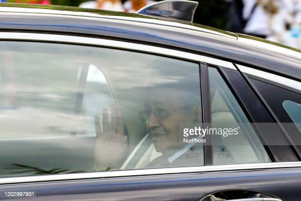 Malaysias former prime minister Mahathir Mohamad leaves the National Palace after he resigned as Malaysian prime minister in Kuala Lumpur on February...