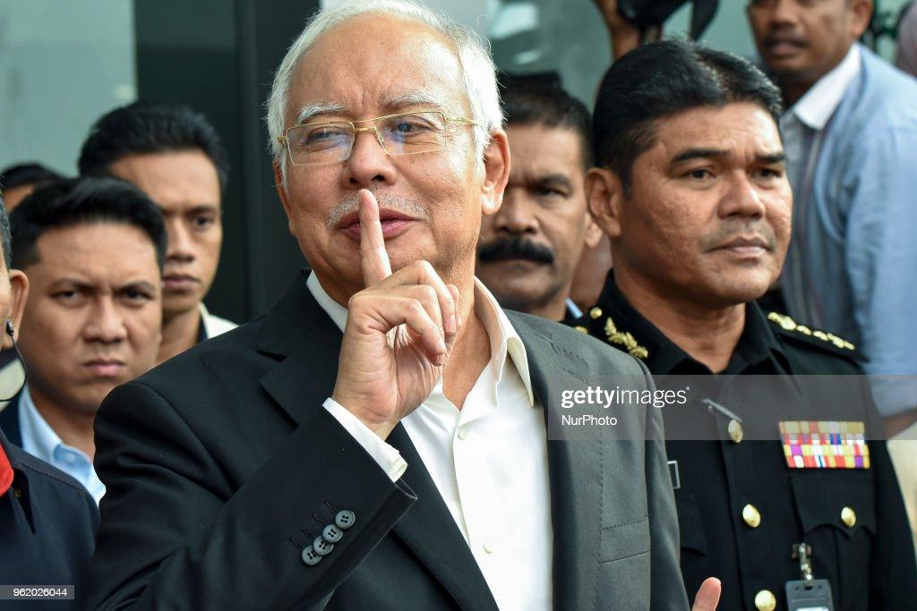 Malaysia's Former PM, Najib Razak At The Malaysian Anti-Corruption Commission