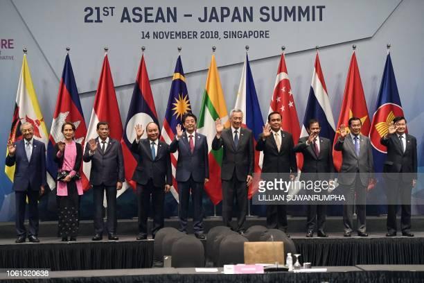 Malaysia's Prime Minister Mahathir Mohamad Myanmar State Counsellor Aung San Suu Kyi Philippine President Rodrigo Duterte Vietnam's Prime Minister...