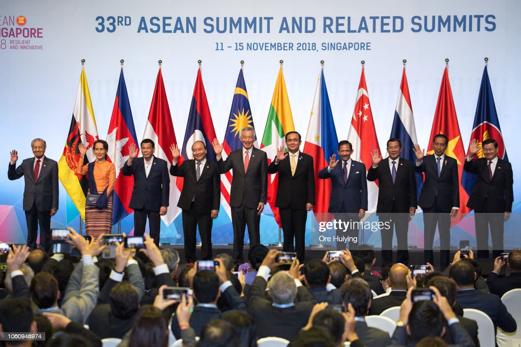 World Leaders Gather At The 33rd ASEAN Summit In Singapore : News Photo