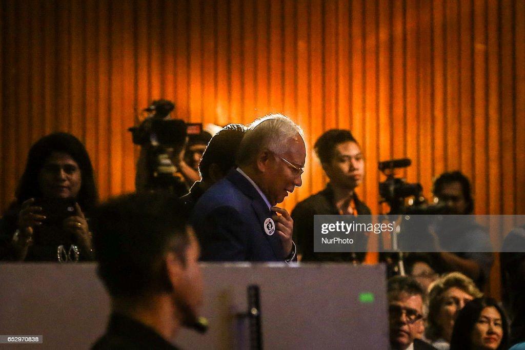 Malaysia's Prime Minister Najib Razak attends an event in Kuala Lumpur on March 13, 2017.