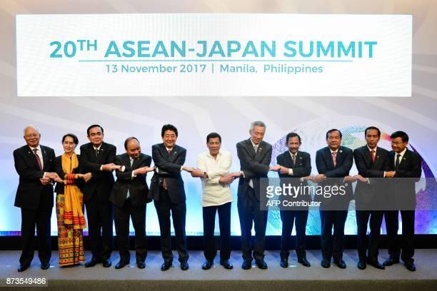Malaysia's Prime Minister Najib Razak Myanmar's State Counsellor Aung San Suu Kyi Thailand's Prime Minister Prayuth Chanocha Vietnam's Prime Minister...