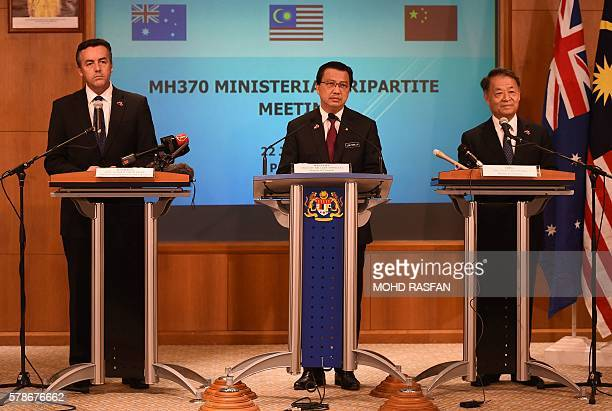 Malaysia's Transport Minister Liow Tiong Lai Chinese Minister of Transport Yang Chuantang and Australia's Minister for Infrastructure and Transport...