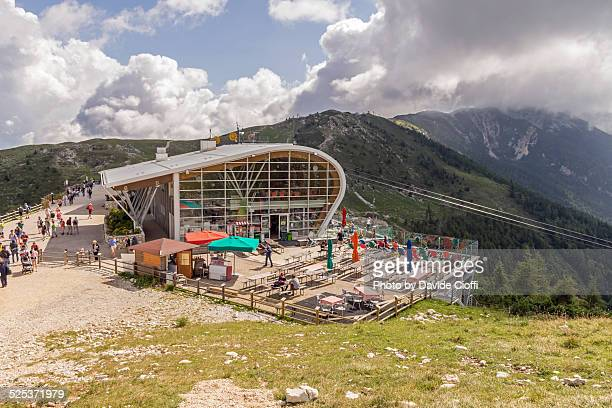 malcesine cable car upper station - malcesine stock pictures, royalty-free photos & images