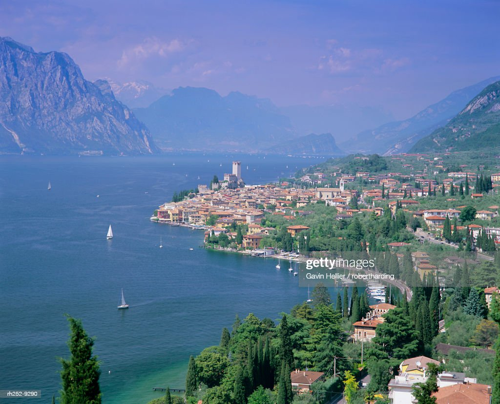 Malcesine, Lago di Garda Lake Garda, Italian Lakes, Trentino-Alto Adige, Italy, Europe : Stockfoto