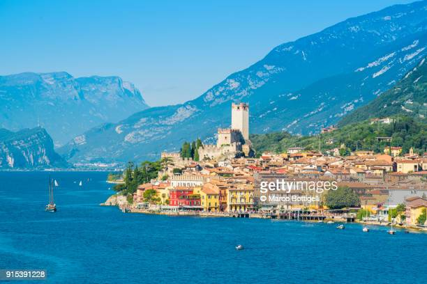malcesine, lake garda, italy. - malcesine stock pictures, royalty-free photos & images