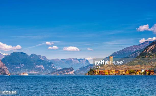 malcesine lake garda - malcesine stock pictures, royalty-free photos & images