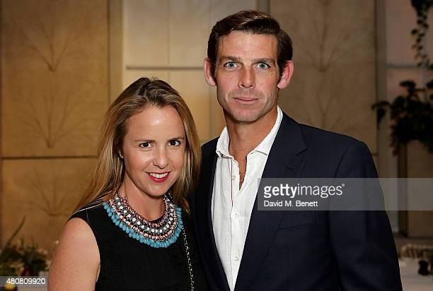 Malcolm Borwick and wife Alejandra attend the Piaget 'Mediterranean Garden' Summer Party private dinner at Spring at Somerset House on July 15 2015...