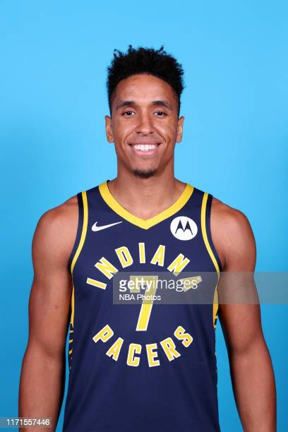 Malcolm Brogdon of the Indiana Pacers poses for a head shot during media day on September 27 2019 at Bankers Life Fieldhouse in Indianapolis Indiana...