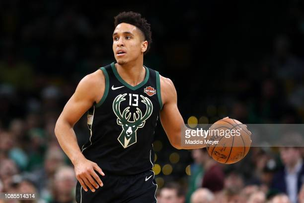 Malcolm Brogdon of the Milwaukee Bucks dribbles against the Boston Celtics at TD Garden on December 21 2018 in Boston Massachusetts NOTE TO USER User...