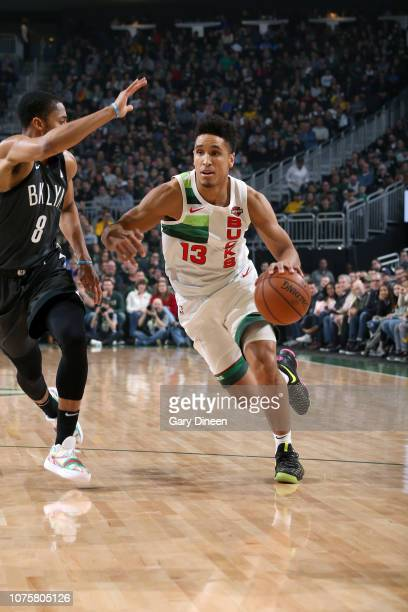 Malcolm Brogdon of the Milwaukee Bucks handles the ball against the Brooklyn Nets on December 29 2018 at the Fiserv Forum in Milwaukee Wisconsin NOTE...