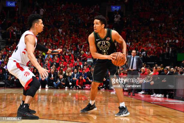 Malcolm Brogdon of the Milwaukee Bucks handles the ball against the Toronto Raptors during Game Six of the Eastern Conference Finals on May 25 2019...