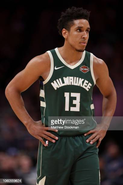 Malcolm Brogdon of the Milwaukee Bucks plays the Denver Nuggets at the Pepsi Center on November 11 2018 in Denver Colorado NOTE TO USER User...