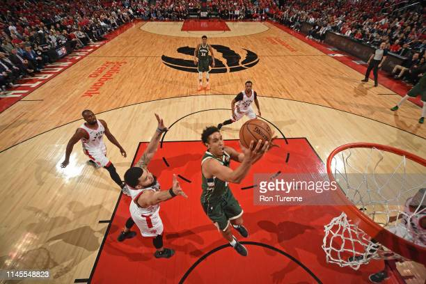Malcolm Brogdon of the Milwaukee Bucks shoots the ball against the Toronto Raptors during Game Four of the Eastern Conference Finals on May 21 2019...