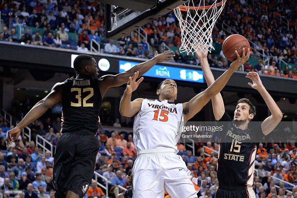 ACC Basketball Tournament - Florida State v Virginia : News Photo