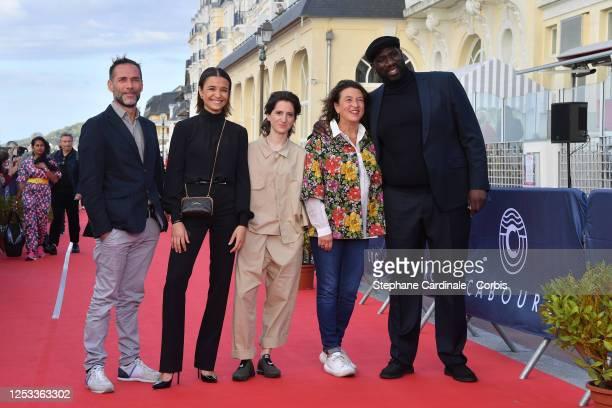 Malcolm Conrath Carmen Kassovitz Aloïse Sauvage Noémie Lvovsky and Steve Tientcheu attend the Closing Ceremony of the 34th Cabourg Film Festival on...