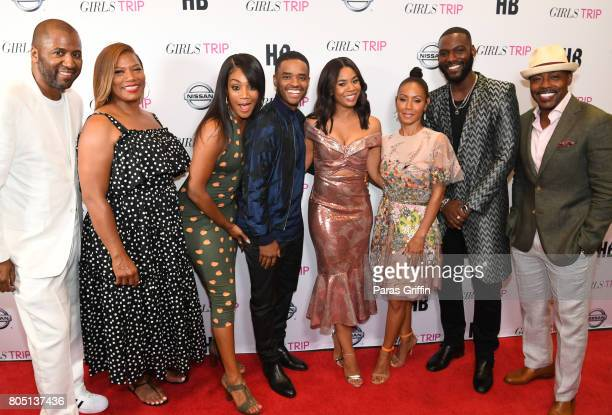 Malcolm D Lee Queen Latifah Tiffany Haddish Larenz Tate Regina Hall Jada Pinkett Smith Kofi Siriboe and Will Packer at 'Girls Trip' New Orleans...