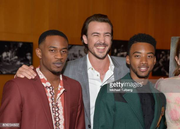 Malcolm David Kelley Ben O'Toole and Algee Smith attend a special screening of 'Detroit' hosted by Annapurna Pictures at the Directors Guild of...