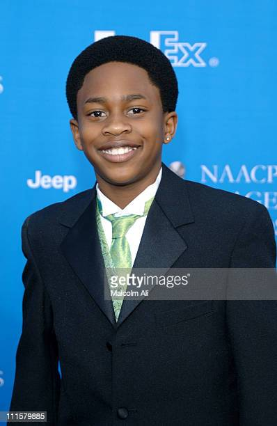 Malcolm David Kelley during The 37th Annual NAACP Image Awards Red Carpet at Shrine Auditorium in Los Angeles California United States