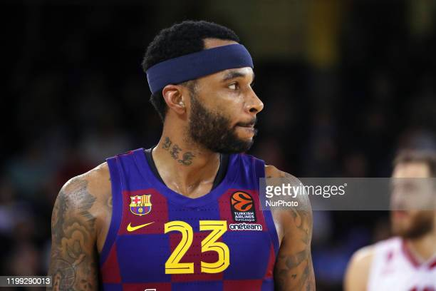 Malcolm Delaney during the match between FC Barcelona and AX Armani Exchange Olimpia Milano corresponding to the week 24 of the Eurleague played at...