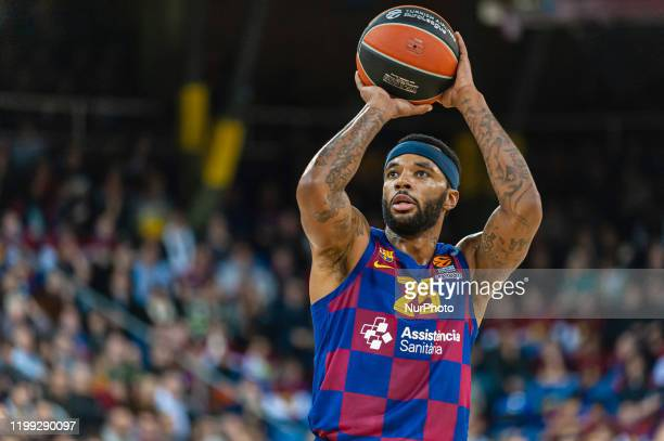 Malcolm Delaney during the match between FC Barcelona and AX Armani Exchange Olimpia Milano corresponding to the week 24 of the Euroleague played at...