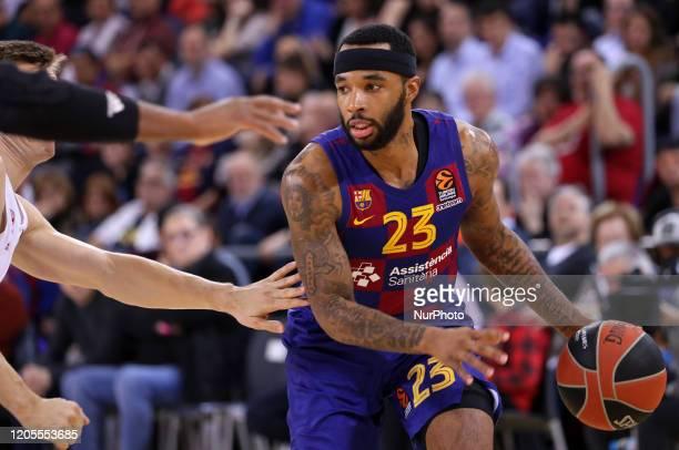 Malcolm Delaney during the match between FC Barcelona and FC Bayern Munich corresponding to the week 28 of the Euroleague played at the Palau...