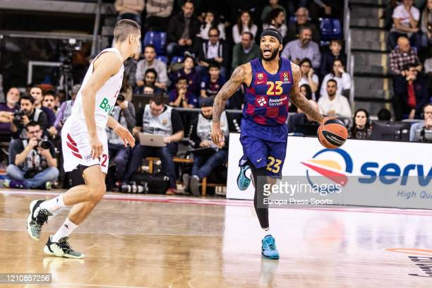 Malcolm Delaney of FC Barcelona in action during the Turkish Airlines EuroLeague basketball match played between FC Barcelona Lassa and Bayern Munich...