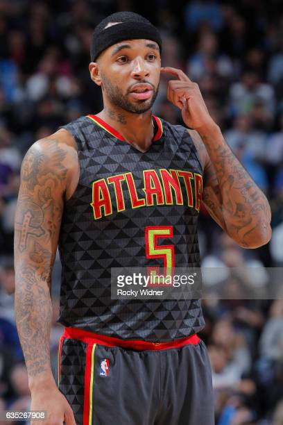 Malcolm Delaney of the Atlanta Hawks looks on during the game against the Sacramento Kings on February 10 2017 at Golden 1 Center in Sacramento...