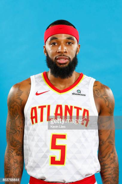 Malcolm Delaney of the Atlanta Hawks poses for a head shot during Media Day on September 25 2017 at Four Season Hotel in Atlanta Georgia NOTE TO USER...