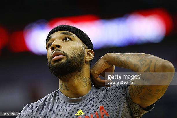 Malcolm Delaney of the Atlanta Hawks warms up before a game against the New Orleans Pelicans at the Smoothie King Center on January 5 2017 in New...
