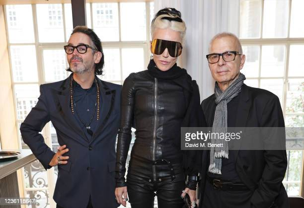 Malcolm Doherty, Daphne Guinness and Tony Visconti attend an exclusive lunch celebrating the opening of 'Bowie 75', the David Bowie store on Heddon...
