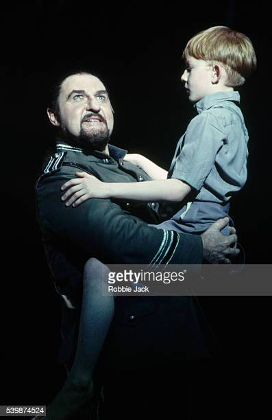 Malcolm Donnelly and Daniel Clarke perform in an English National Opera production of MacBeth