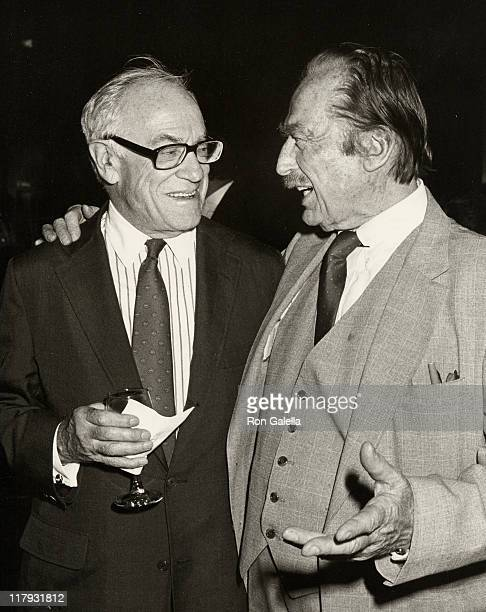 Malcolm Forbes and Fred Trump during Mike Tyson vs Michael Spinks Fight at Trump Plaza June 27 1988 at Trump Plaza in Atlantic City New Jersey United...