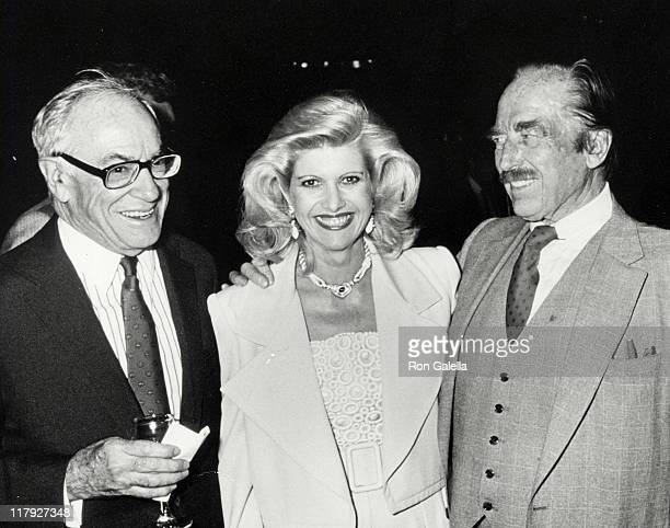 Malcolm Forbes Ivana Trump and Fred Trump during Mike Tyson vs Michael Spinks Fight at Trump Plaza June 27 1988 at Trump Plaza in Atlantic City New...