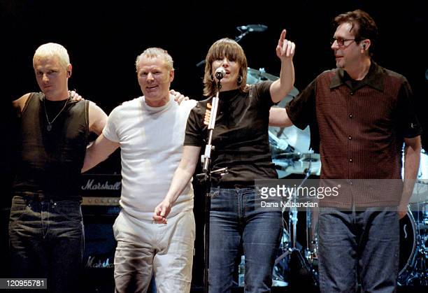 Malcolm Foster, Martin Chambers, Chrissie Hynde and Robbie MacIntosh of the Pretenders