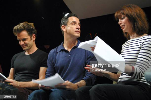 Malcolm Gets Craig Chester and Illeana Douglas during Reading of the Screenplay Adam and Steve at Primary Stages in New York City New York United...