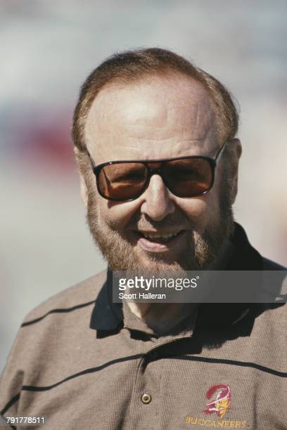 Malcolm Glazer President and Principal owner for the Tampa Bay Buccaneers during the National Football Conference Central game against the Oakland...