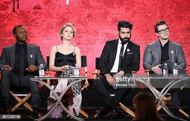 Malcolm Goodwin Rose McIver Rahul Kohli and Robert Buckley for the 'iZombie' television show speak onstage during the 2017 Winter TCA Tour Panels CW...