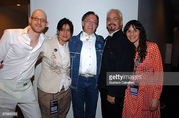 Malcolm Hearn producer Valerie Stadler actors Patrick and Harold with director Tai Uhlmann at the screening of For The Love Of Dolly at the Regal...