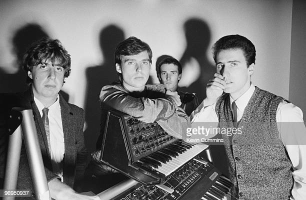 Malcolm Holmes Paul Humphreys Martin Cooper and Andy McCluskey of British band OMD taken on October 23 1980