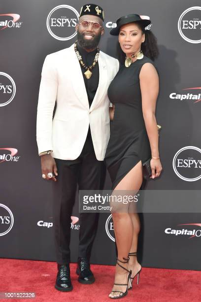 Malcolm Jenkins and Morrisa Jenkins attend The 2018 ESPYS at Microsoft Theater on July 18 2018 in Los Angeles California